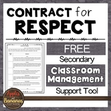 Contract for Respect - Secondary Classroom Management Form