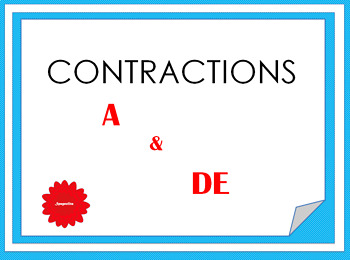 Contraction A and DE (French)