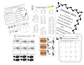 Contraction Action Activity Pack