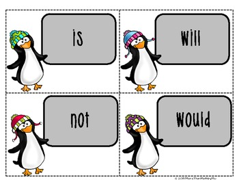 Contraction Action: Activity Set & Printables-b&w activity sets included