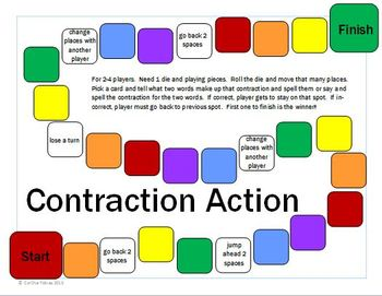 Contraction Action !  Activity to practice contractions