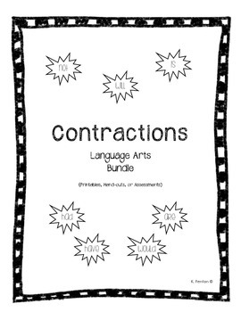 Contraction Activity Bundle (Language Arts)