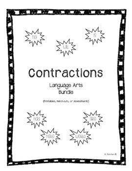 Contraction Activity Bundle (Language Arts)
