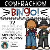 Contraction BINGO! ♦ 32 different cards! ♦