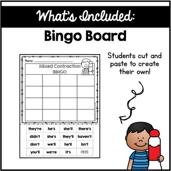 Contraction BINGO {Mixed Contractions}