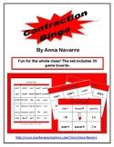 Contraction Bingo w/ 30 Boards