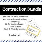 Contraction Bundle - Contraction Clip Cards & Contraction Puzzles