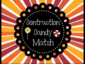 Contraction Candy Matching + Recording Sheet [CC Aligned]