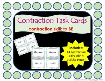 Contraction Cards - Am , Are , Is