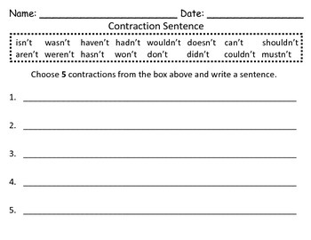 Contraction Cards - Not