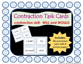 Contraction Cards (Will and Would)