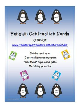 Contraction Cards for Practice --Penguin Style