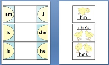 Contraction Chick Foldables