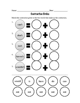 Contraction Circles Cut and Paste