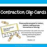 Contraction Clip Cards - 66 Contraction Cards - ELA Center