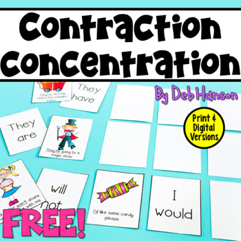 Contraction Concentration- a FREE game!