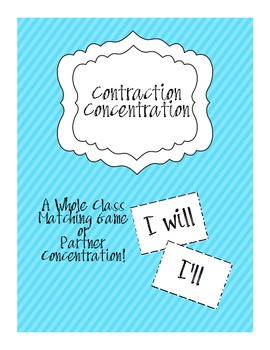 Contraction Concentration-Whole Class or Partner Game!