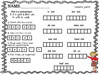 Contraction Confusion Worksheet! FREEBIE!