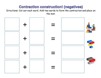Contraction Construction Game - Negatives