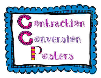 Contraction Conversion Posters