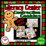 CONTRACTIONS LITERACY CENTER Gingerbread Man Theme Grammar Activity Word Work
