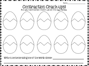 Contraction Crack-Ups! {freebie}