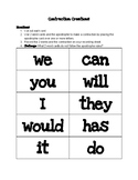 Contraction Creation Cards