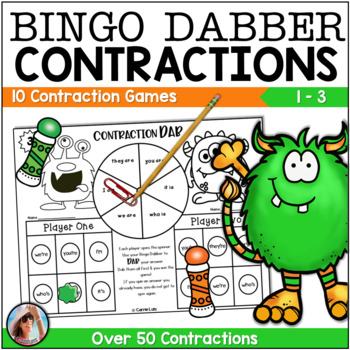 Contraction Dab {10 Super FUN Bingo Dabber Games to Practice Contractions}
