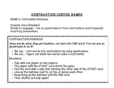 Contraction Dominoes - Center Activity