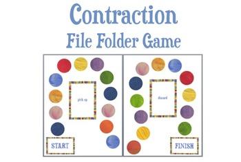 Contraction File Folder Board Game