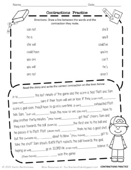 Contraction Flashcards