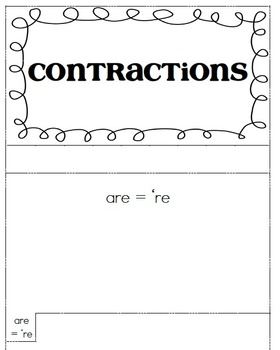Contractions tab book and Powerpoint