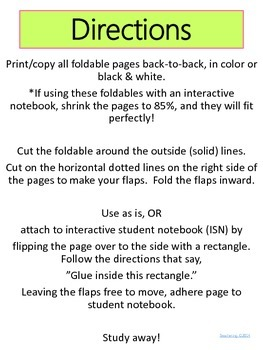Contraction Foldables {Interactive Student Notebook Reference & Study Guides}
