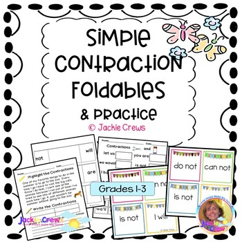 Simple Contraction Foldables and More Literacy Center