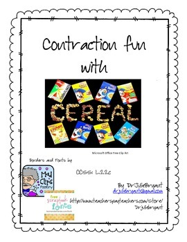 Contraction Fun With Cereal