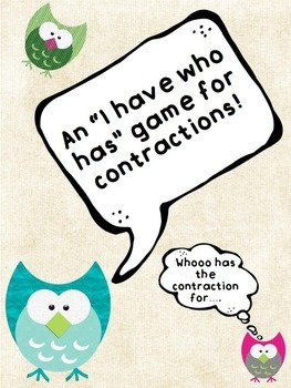 """Contraction Game """"I Have Who Has"""""""
