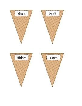 Contraction Game (Ice Cream theme)