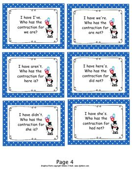 Contraction Game....I Have, Who Has?