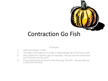 Contraction Go Fish