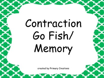 Contraction Go Fish/ Memory