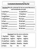 Contraction HAS, HAVE, HAD worksheets