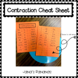 Contraction Help Cheat Sheet {Writing Help}