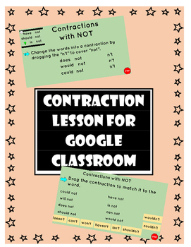 Contraction Lesson for Google Classroom