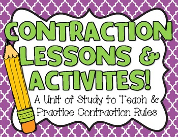 Contraction Lessons & Activities