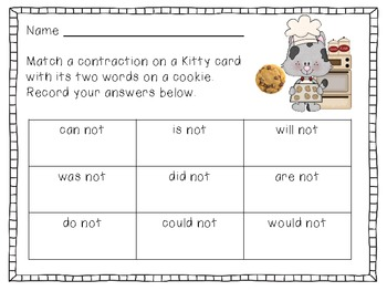Contraction Match - Cooking Kitty Theme