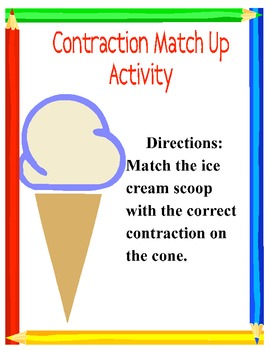 Contraction Match Up Activity