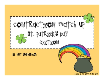 Contraction Match Up: St. Patrick's Day Edition