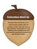Contraction Match Up center (matching game)