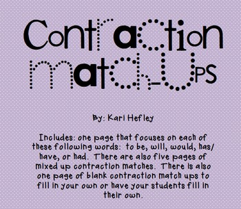 Contraction Match-Ups