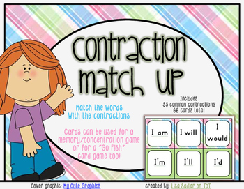 Contraction Match up Card Game
